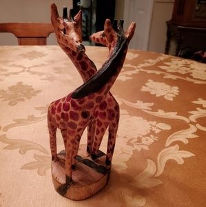 African carving of 2 giraffes